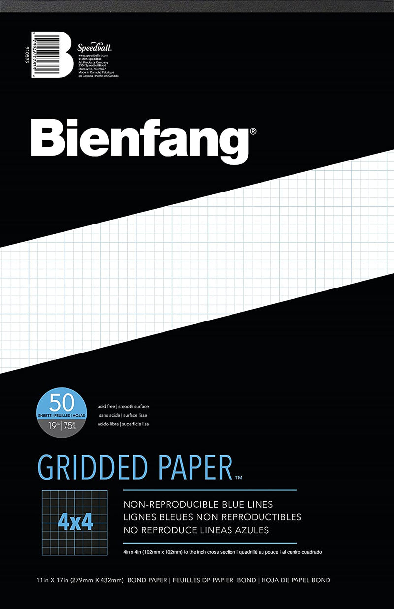"Bienfang Designer Grid 4x4 Pad, 11""x17"" - Wyndham Art Supplies"