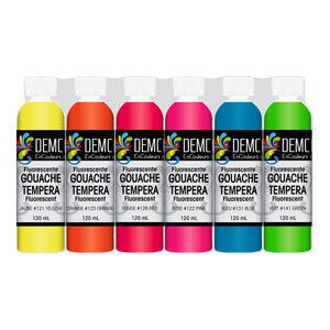Demco Tempera Metallic & Fluorescent sets - Wyndham Art Supplies