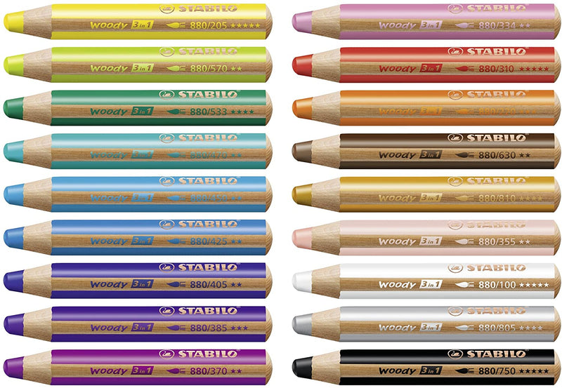 Stabilo Woody 3 in 1 Coloured Pencils