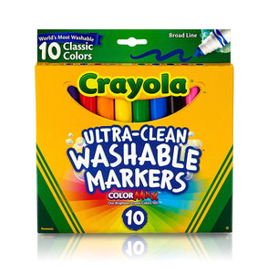 Crayola Ultra-Clean 10pk Broad - Wyndham Art Supplies