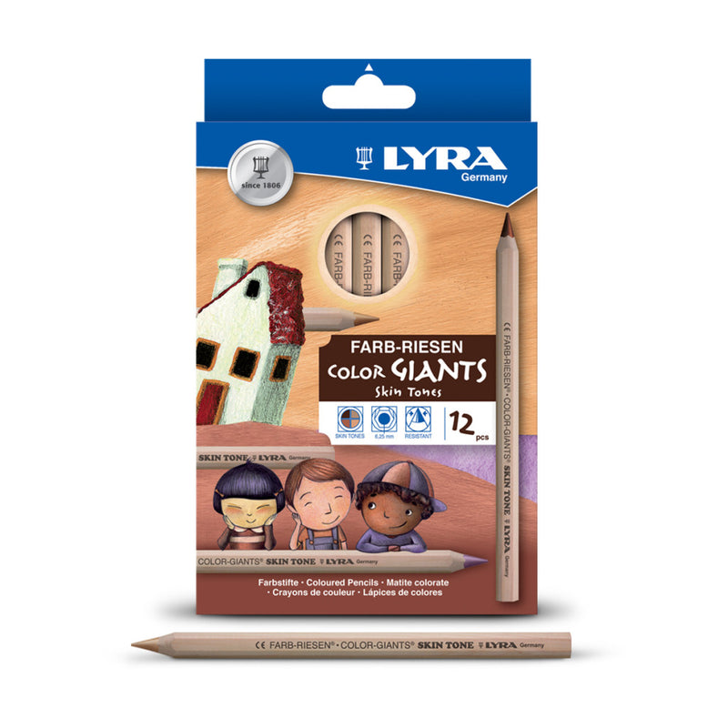 LYRA Giant Skin Tones x 12 - Wyndham Art Supplies