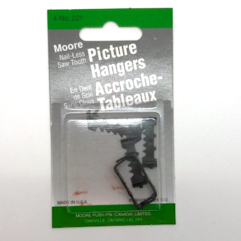 Moore Sawtooth Nail-Less Picture Hangers - Wyndham Art Supplies