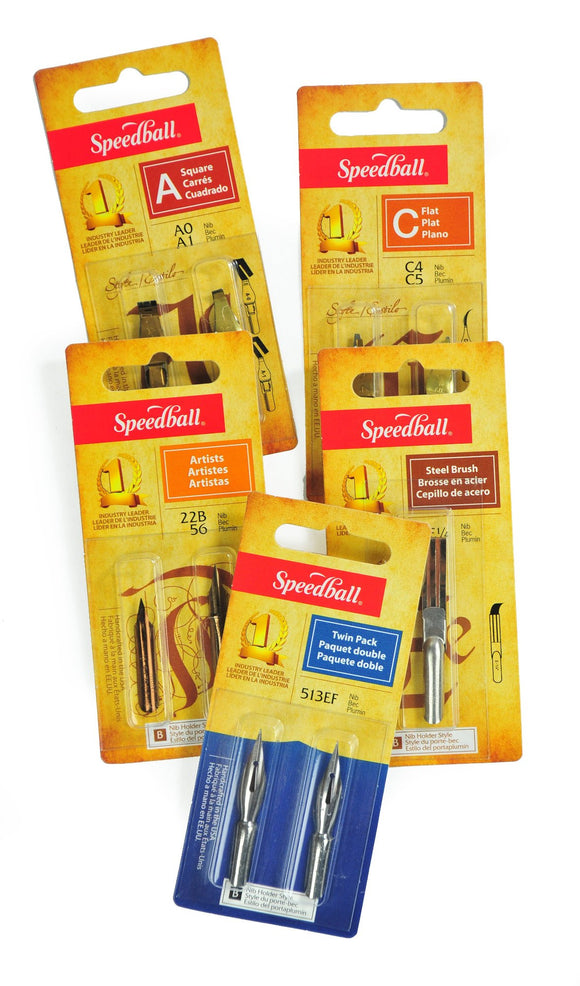 Speedball Nibs Twin Packs