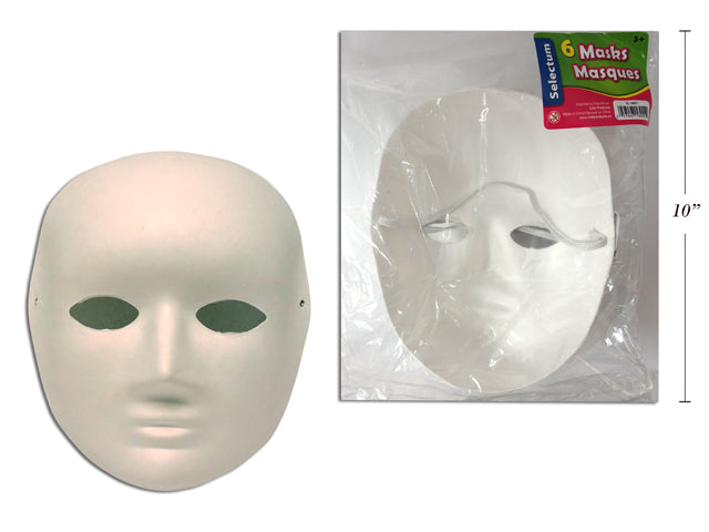 Paper Face Mask (6 Pcs) - Wyndham Art Supplies