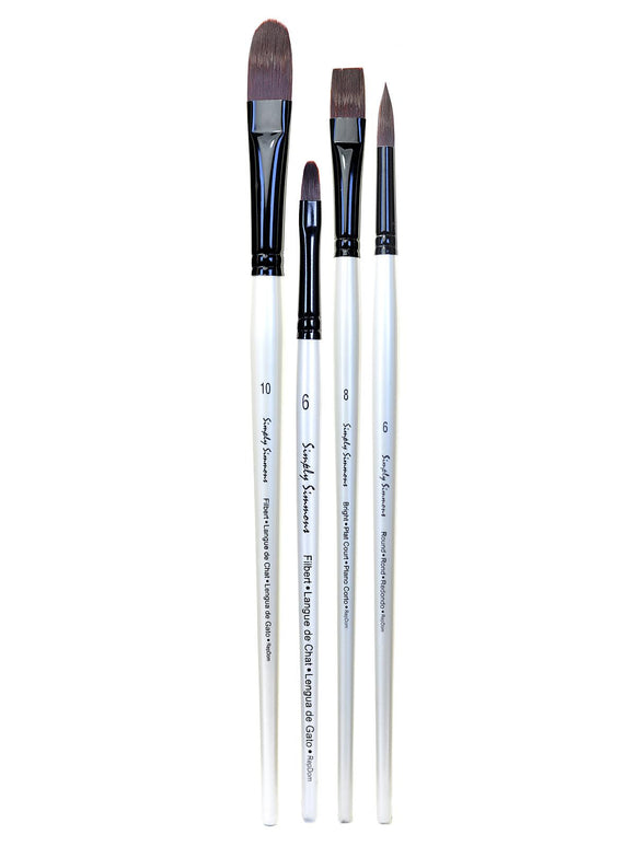 Simply Simmons Firm Brushes - Wyndham Art Supplies