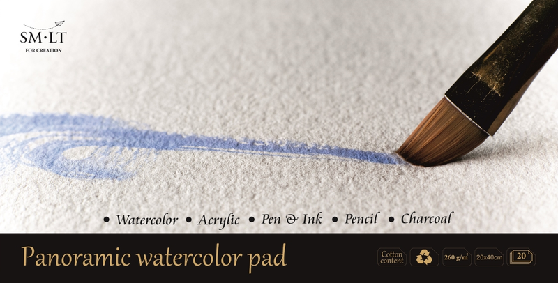 SMLT Panoramic Watercolour Pad - Wyndham Art Supplies