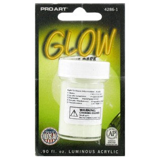 Glow in the dark paint .9 oz - Wyndham Art Supplies