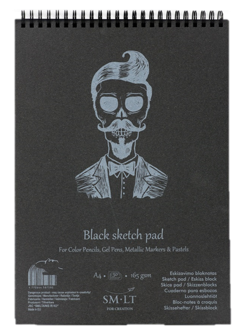 SMLT Black Sketch Pads - Wyndham Art Supplies
