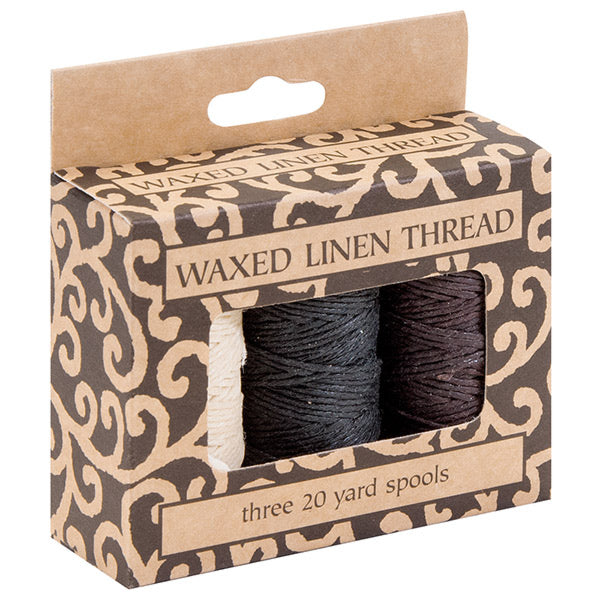 Waxed Linen Thread - 3 Pack