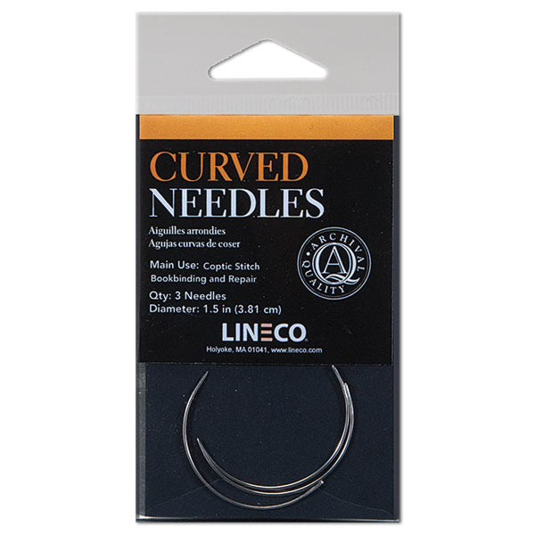 Lineco Binders Needle Curved (3pk) - Wyndham Art Supplies