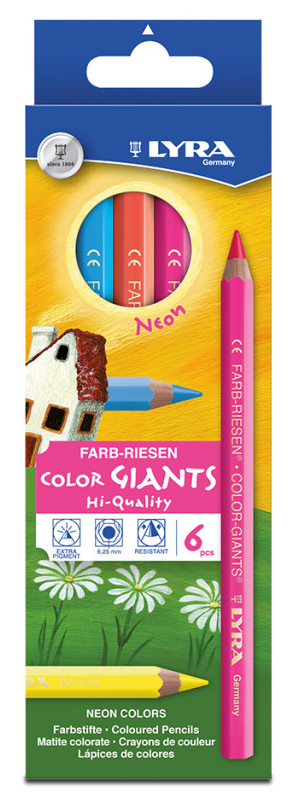 LYRA Neon Color Giants (6pk)