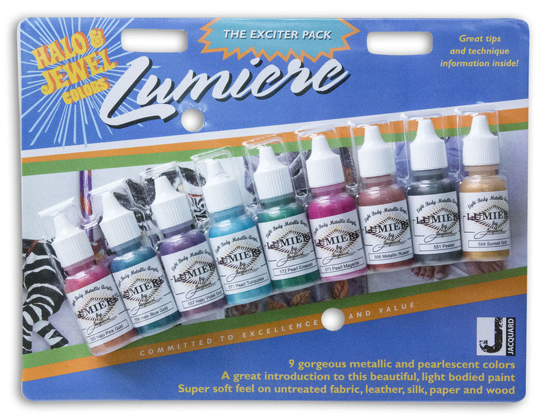 Jacquard Lumiere/Neopaque Exciter Packs - Wyndham Art Supplies