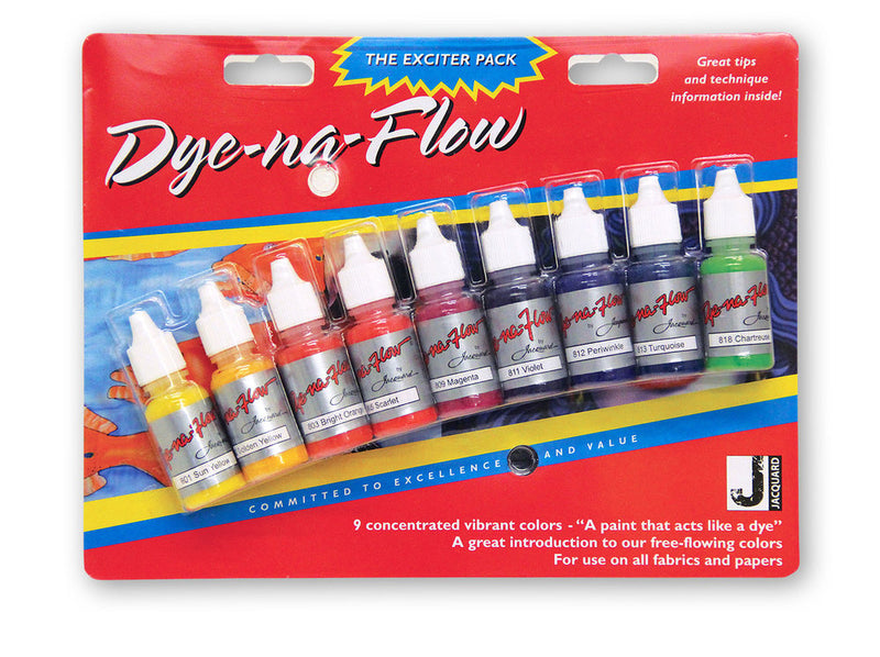 Jacquard Dye-Na-Flow Exciter Pack - Wyndham Art Supplies