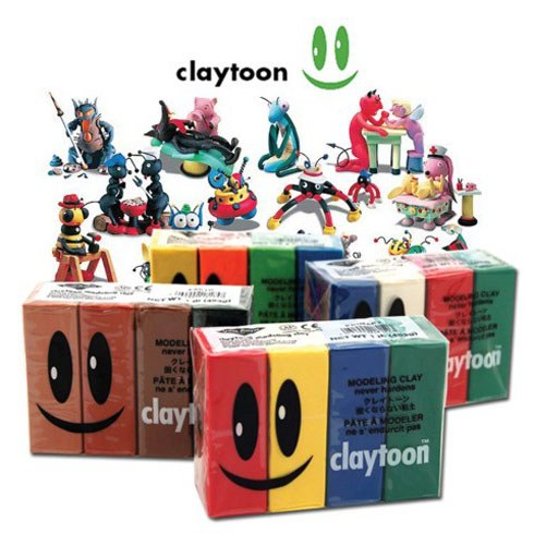 Claytoon Modelling Clay 4 pack - Wyndham Art Supplies