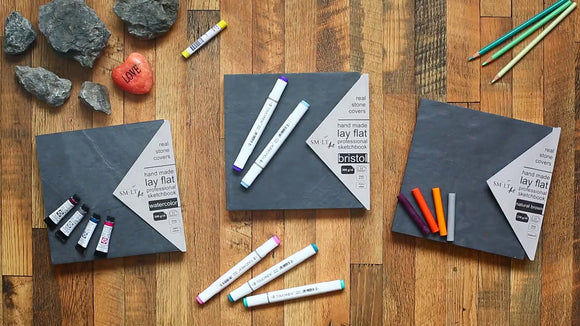 SMLT Real Stone Sketchbooks - Wyndham Art Supplies