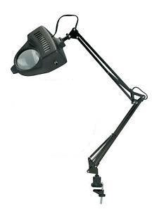 Alvin 1.75x Swing-Arm Magnifier Lamp Black - Wyndham Art Supplies