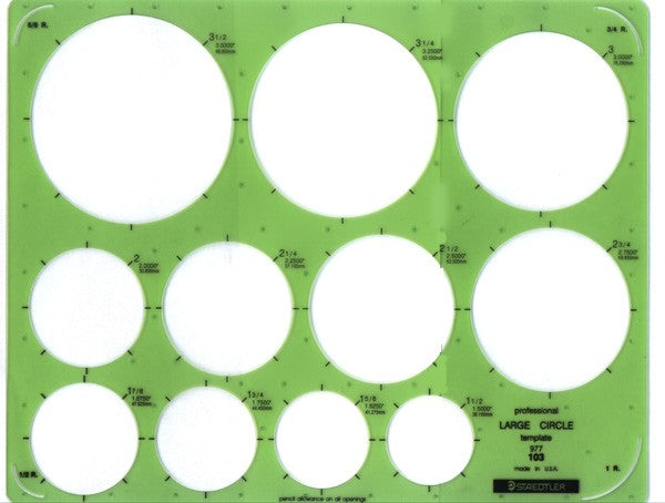 Staedtler Large Circle Template - Wyndham Art Supplies
