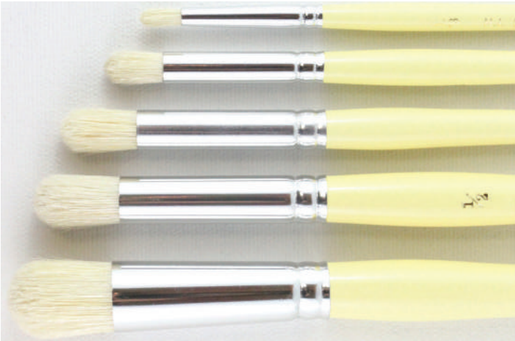 HJ Series 18 Domed Stipple Brushes - Wyndham Art Supplies