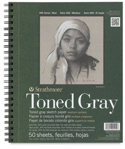 Strathmore Toned Gray Book9x12
