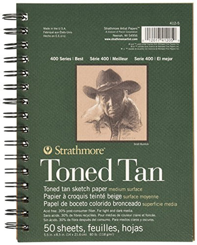 Strathmore Toned Tan Book 9x12