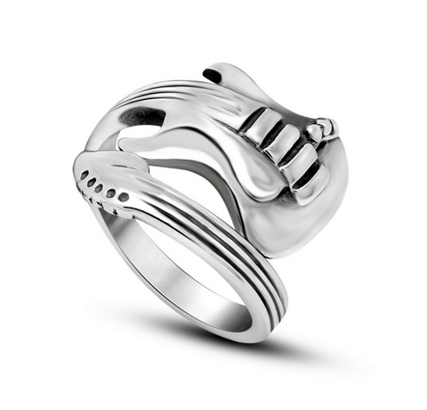 Rock the Guitarist Titanium Ring