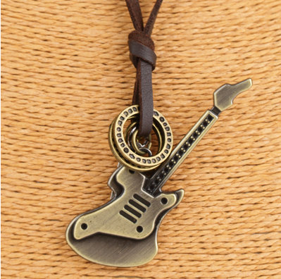 Guitarist Leather Necklace
