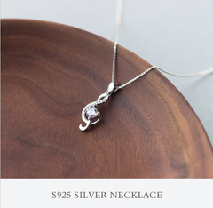 .925 sterling silver Note Necklace