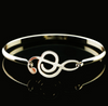 Image of 18K Gold Plated Musical Note Bangle Bracelet