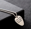"Image of ""When Words Fail Music Speaks"" necklace"