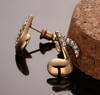 Image of 18k Gold Plated Eighth Note Studs