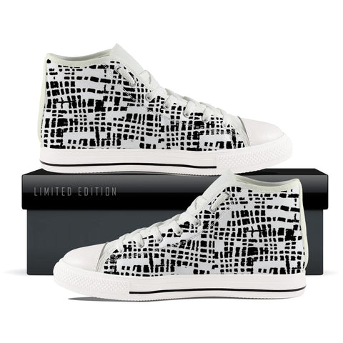 Squared Abstract pattern High Top Shoes