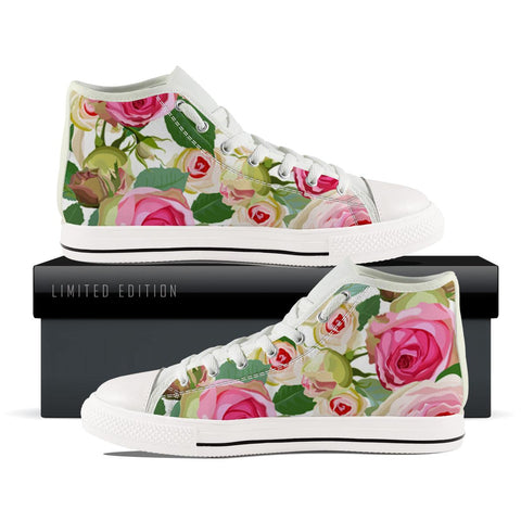 Pink Rose High Top Shoes