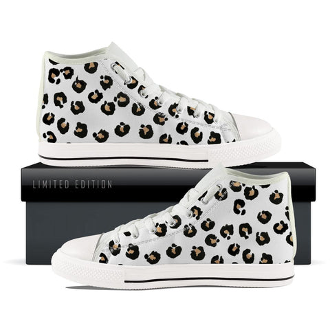 White leopard High Top Shoe