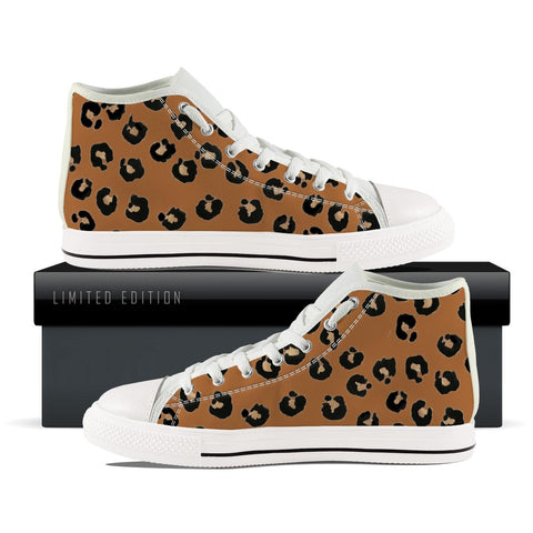 Brown Leopard High Top Shoe