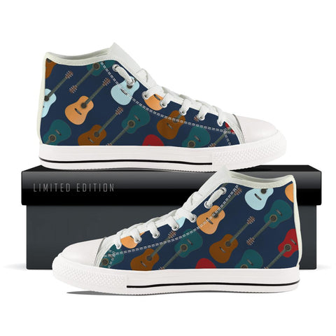 5 Guitar Pattern High Top Shoes