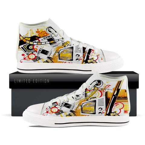 Abstract Music High Top Shoes