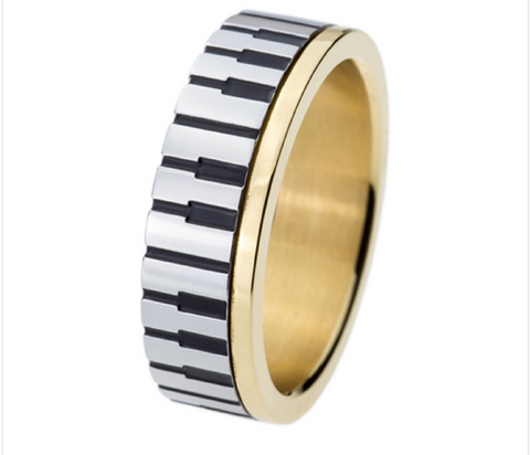 """The Classical"" 18k Gold plated Piano Ring"