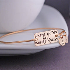 """When words fail music speaks"" Bangle"