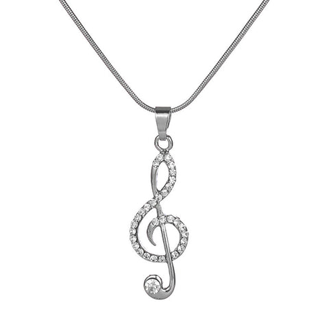 14k Gold Plated Rhinestones on a Musical Note