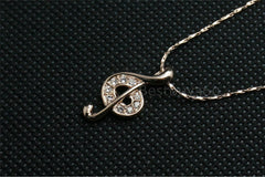 18K Gold Plated Treble Note Necklace