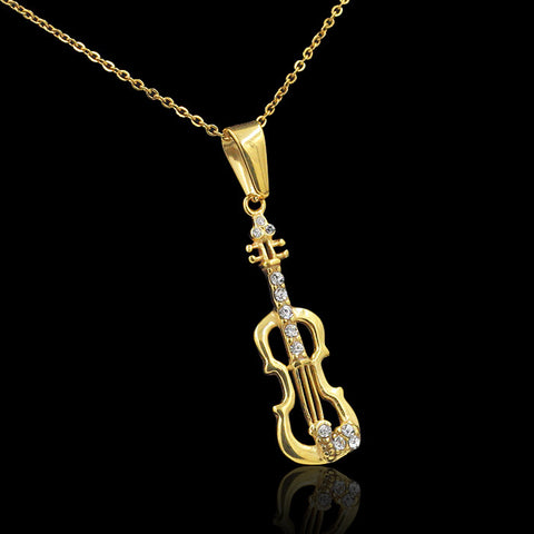 """The Pizzicato"" Violin Necklace"