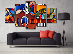Abstract Guitar Inpired 5 Piece Diamond Wall Art