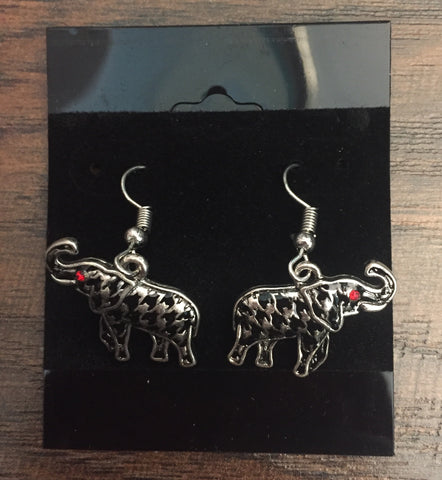 Alabama Elephant Earrings