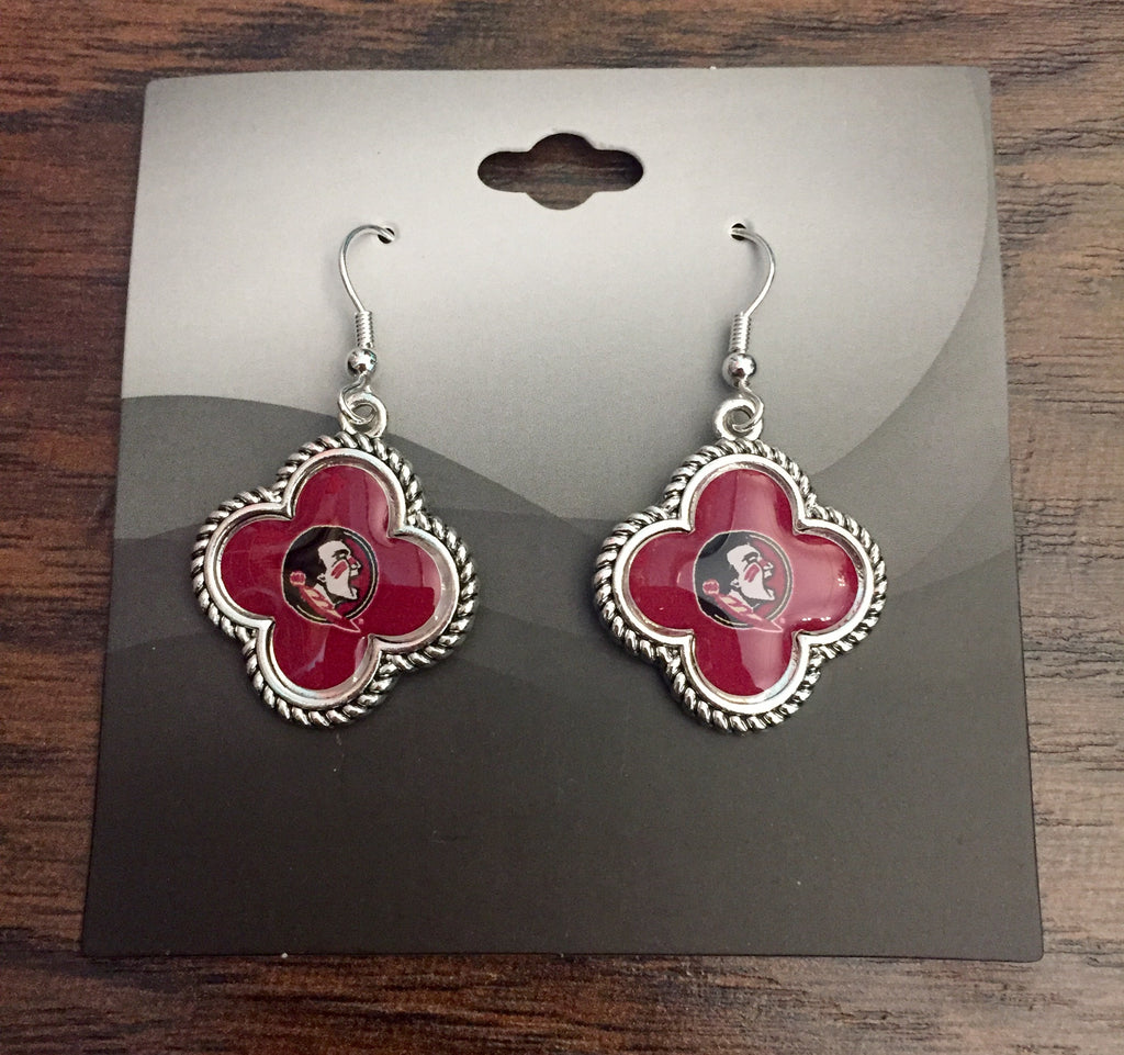 FSU Clover Earrings
