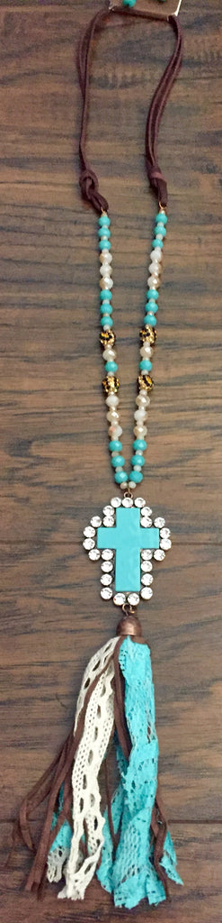 Cross Tassel Necklace