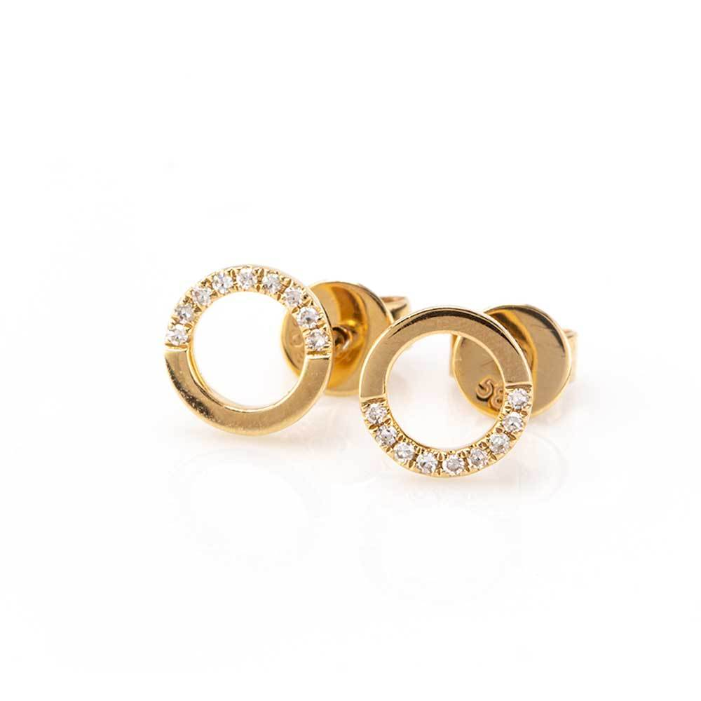 50/50 Circle Studs-Earrings-Zofia Day Co.