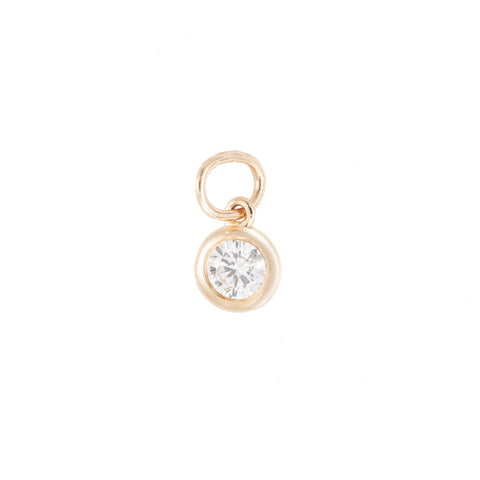 Bezel Diamond Charm