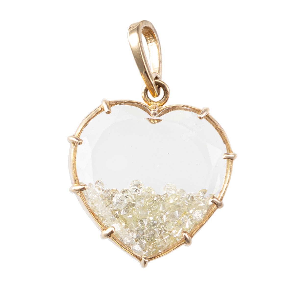 Heart Diamond Shaker Charm