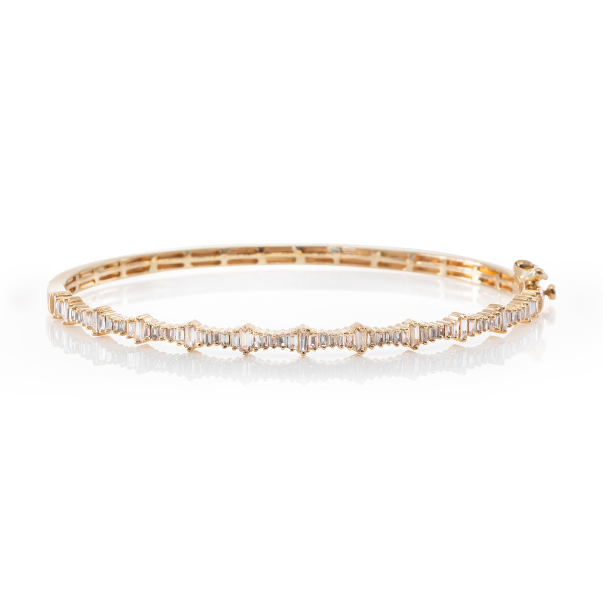 Heartbeat Baguette Bangle