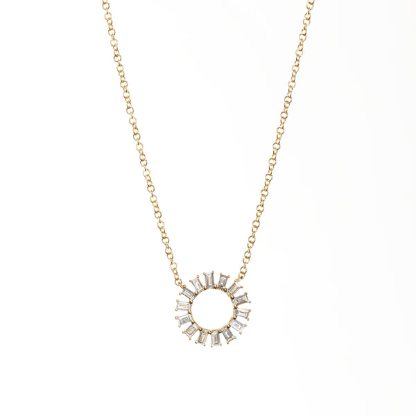 Petite Sunburst Necklace-Necklaces-Zofia Day Co.